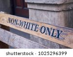 non white only bench in cape...   Shutterstock . vector #1025296399