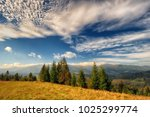 autumn morning. a picturesque... | Shutterstock . vector #1025299774