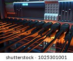 ethernet network cables... | Shutterstock . vector #1025301001