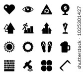 solid vector icon set   heart...