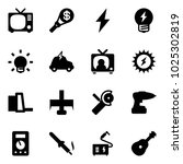 solid vector icon set   tv... | Shutterstock .eps vector #1025302819