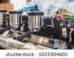 coffee preparation machine...   Shutterstock . vector #1025304601