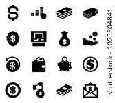 solid vector icon set   dollar... | Shutterstock .eps vector #1025304841