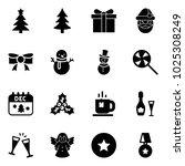 solid vector icon set  ... | Shutterstock .eps vector #1025308249