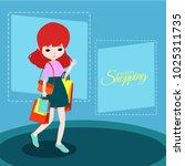 shopping illustration design   Shutterstock .eps vector #1025311735