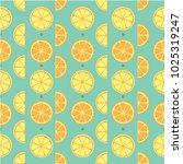 orange fruit pattern background | Shutterstock .eps vector #1025319247