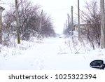 winter driving problems  snow... | Shutterstock . vector #1025322394