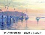 Beautiful View Of Sunset Marina ...