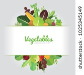 vegetables background design...   Shutterstock .eps vector #1025345149