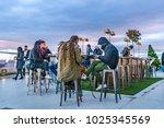 madrid  spain  december   2017  ... | Shutterstock . vector #1025345569