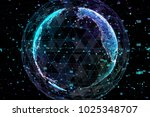 earth  representing global... | Shutterstock . vector #1025348707
