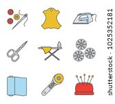 tailoring color icons set.... | Shutterstock .eps vector #1025352181