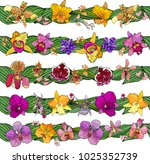 hand drawn set of floral... | Shutterstock .eps vector #1025352739