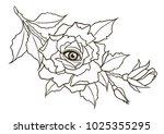 eye of providence. masonic... | Shutterstock .eps vector #1025355295
