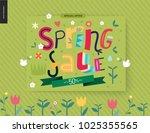 spring sale poster   a shop... | Shutterstock .eps vector #1025355565