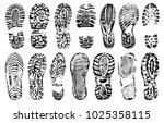 footprints human shoes... | Shutterstock .eps vector #1025358115