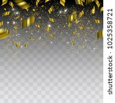 abstract background with gold... | Shutterstock .eps vector #1025358721