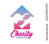 charity and care logo  emblems... | Shutterstock .eps vector #1025359195