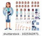 doctor woman character... | Shutterstock . vector #1025363971