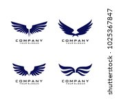 wings logo template vector