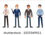 multinational men wearing... | Shutterstock . vector #1025369011