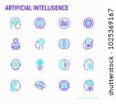 artificial intelligence thin... | Shutterstock .eps vector #1025369167