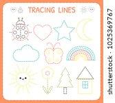 kindergartens educational game... | Shutterstock .eps vector #1025369767