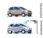 car wash service concept. ... | Shutterstock . vector #1025370781