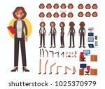 business woman character... | Shutterstock . vector #1025370979