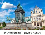 maria theresa statue and... | Shutterstock . vector #1025371507