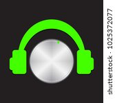 vector volume music control... | Shutterstock .eps vector #1025372077