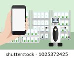 internet of things in... | Shutterstock .eps vector #1025372425