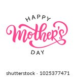 happy mothers day card with... | Shutterstock .eps vector #1025377471