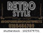 vintage font typeface... | Shutterstock .eps vector #1025379751