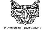 vector illustration of a cat's... | Shutterstock .eps vector #1025388247