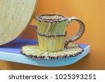 match cup . match glass .... | Shutterstock . vector #1025393251