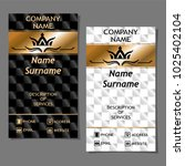 business card in royal style on ... | Shutterstock .eps vector #1025402104