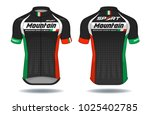 cycle jersey.cycling shirt... | Shutterstock .eps vector #1025402785