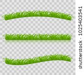 set of green grass for spring... | Shutterstock .eps vector #1025403541