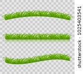 set of green grass for spring... | Shutterstock .eps vector #1025403541