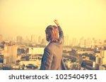 successful western businessman... | Shutterstock . vector #1025404951