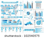 infographic demographics 2 blue | Shutterstock . vector #102540575