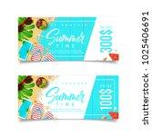 promo discount summer gift... | Shutterstock .eps vector #1025406691