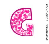 english pink letter g on a... | Shutterstock .eps vector #1025407735