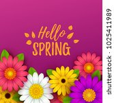 colorful spring background with ... | Shutterstock .eps vector #1025411989