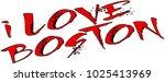 i love boston text sign... | Shutterstock .eps vector #1025413969