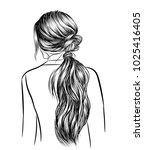 illustration of beauty woman... | Shutterstock .eps vector #1025416405