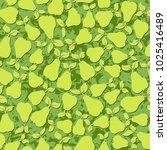 green pear fruit leaf seamless... | Shutterstock . vector #1025416489
