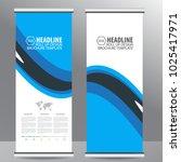 roll up business brochure flyer ... | Shutterstock .eps vector #1025417971