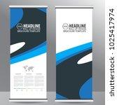 roll up business brochure flyer ... | Shutterstock .eps vector #1025417974
